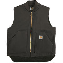 CARHARTT V01 Firm Cotton Duck Vest - BLACK