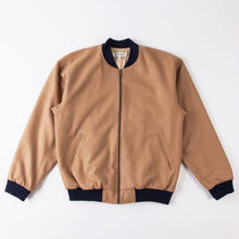 GRIND LONDON WOOL BOMBER -CAMEL