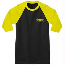 Anti Hero Stock Eagle 3/4 Sleeve Raglan T-Shirt  - Black/Gold