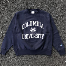 CHAMPION COLLEGE LOGO REVERSE WEAVE CREW NECK - COLUMBIA