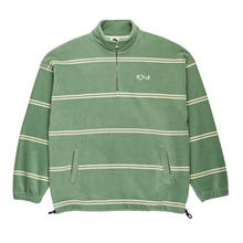 POLAR SKATE CO STRIPED FLEECE PULLOVER - DUSTY MINT