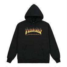 THRASHER BBQ HOODIE - BLACK