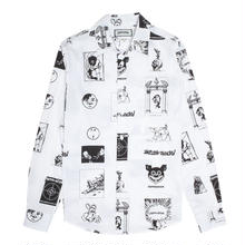FUCKING AWESOME Cut Outs Dress Shirt - White/Black