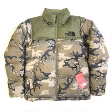 THE NORTH FACE NOVELTY NUPTSE JACKET - WOODCHIP CAMO