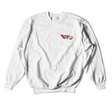 BODEGA ROSE EMBROIDERED HEAVY WEIGHT CREW-WHITE