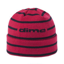 DIME STRIPED BEANIE RED