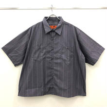 REDKAP REMAKE SHORT SLEEVE WORK SHIRTS-CHACOAL/WHITE/RED