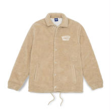 QUARTERSNACKS FLEECE COACH JACKET - CREAM