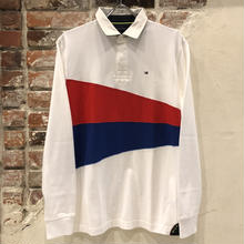 TOMMY HILFIGER RUGBY SHIRT - WHT / BLU / RED