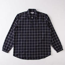 GRIND LONDON BRUSHED CHECK PULLOVER - NAVY