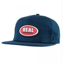 REAL SKATEBOARDS Real Oval Patch Snapback Hat - Navy Blue