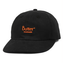 BUTTER GOODS CLASSIC LOGO CORD 6 PANEL CAP-BLACK