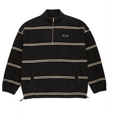 POLAR SKATE CO STRIPED FLEECE PULLOVER - BLACK