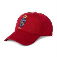 POLO RALPH LAUREN COTTON BEAR CAP - RED