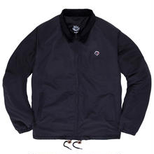 MAGENTA HEAVY WINDBREAKER - BRODÉ BLACK