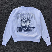 CHAMPION COLLEGE LOGO REVERSE WEAVE CREW NECK - GEORGETOWN