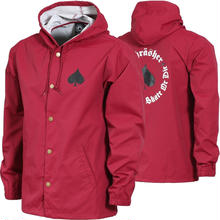 THRASHER NEW OATH COACH JACKET - CARDINAL