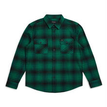 BRIXTON ARCHIE L/S FLANNEL - GREEN/BLACK
