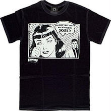 THRASHER  Boyfriend  T-Shirt BLACK