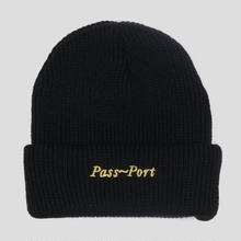 PASS~PORT SCRIPT EMBROIDERY BEANIE