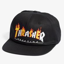 THRASHER FLAME MAG SNAPBACK - BLACK