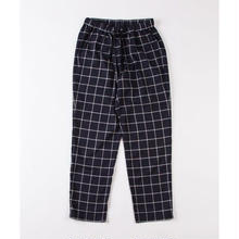 GRIND LONDON RELAXED BRUSHED CHECK TROUSER - NAVY