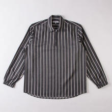 GRIND LONDON BRUSHED STRIPE PULLOVER - GREY