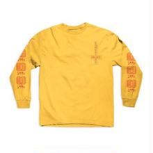 CHOCOLATE SKATEBOARDS DARKSIDE MICROCHIP L/S TEE - GOLD