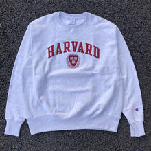 CHAMPION COLLEGE LOGO REVERSE WEAVE CREW NECK - HARVARD