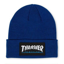 THRASHER LOGO PATCH BEANIE - BLUE