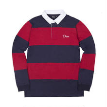 DIME STRIPED RUGBY SHIRT - Navy / Red