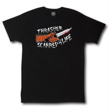 THRASHER  Scarred T-Shirt by Neckface. BLACK