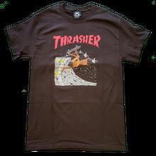 THRASHER NECKFACE INVERT TEE-BROWN