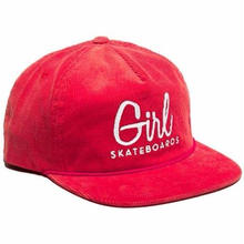 GIRL SKATEBOARDS CENTURY CORDUROY SNAPBACK HAT-RED