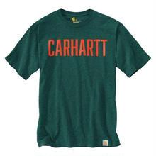 CARHARTT GRAPHIC BLOCK LOGO TEE - GREEN