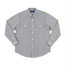ONLY NY Washed Cotton Work Shirt - Hickory Stripe