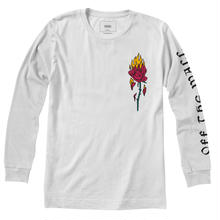 VANS FLAMING ROSE LONG SLEEVE TEE - WHITE