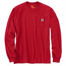 CARHARTT  LONG SLEEVE WORKWEAR POCKET T-SHIRT-Red