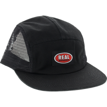 REAL SKATEBOARDS OVAL CLIP 5P HAT - BLACK