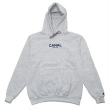 CANAL CLASSIC LOGO CHAMPION HOODIE - HEATHER WHITE / NAVY
