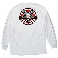 Independent Trucks x Thrasher Pentagram Cross Long Sleeve - White