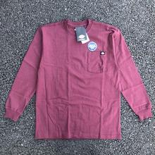 DICKIES Long Sleeve Heavyweight T-Shirt - Burgundy