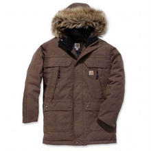 CARHARTT Quick Duck Sawtooth Parka Jacket - Brown
