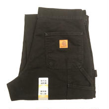 CARHARTT WASHED DUCK WORK DUNGAREE-BLACK