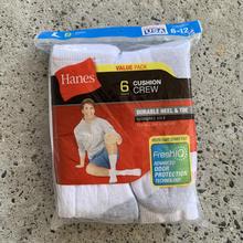 HANES CREW SOCKS 6-Pack - White