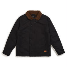BRIXTON MAST JACKET - BLACK/BROWN