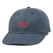 BUTTER GOODS CLASSIC LOGO CORD 6 PANEL CAP-SLATE