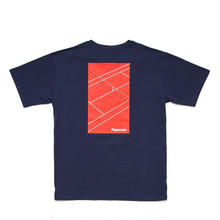 PATERSON COURT CROP TEE  -  NAVY