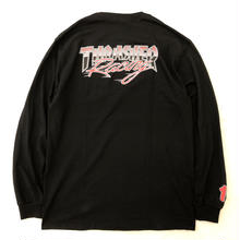 THRASHER RACING L/S TEE-BLACK