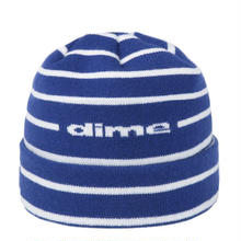 DIME STRIPED BEANIE BLUE